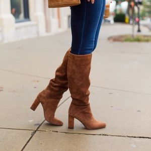 Banana Republic slouchy suede boots